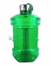 BPA Free Sports Water Bottle 2.3 Liters Hex Canteen Gym Jug Container Gallon Oz