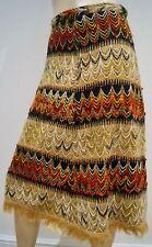 Matthew Williamson uno de una clase de Color multi Bordado con Cuentas Vestido de falda