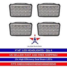 Qty 4 LED Headlights For Kenworth T800 T400 T600 W900B W900L Classic 120/132 HK