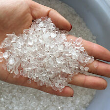 Hot 50g Clear White Agate Quartz Raw Ore Crushed Gravel Crystal Stone Degaussing