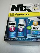 Complete Lice Treatment 5-Piece Kit (2) Creme Rinse Gel Comb Spray exp 12/21