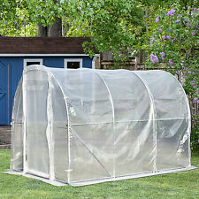 Outsunny Walk-in Tunnel Greenhouse Garden Planting Shed PE 300L x 200W x 200Hcm