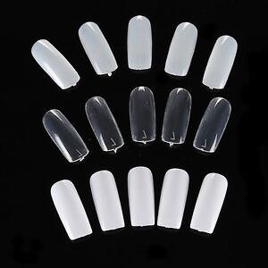500 PCS Full Cover False Acrylic Gel UV Nail Art Tips Salon Tool 10 Sizes ❤ ❤ ❤