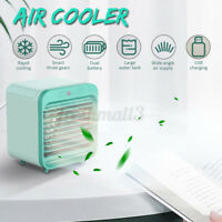 Mini Portable Air Cooler Conditioner Fan Noiseless Evaporative Air Humidifier