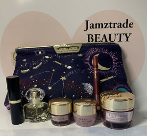 Ester Lauded 7Pc Gift Set*Day,Night & Eye Cream*Perfume*Lipstick*Lip Pencil*Bag