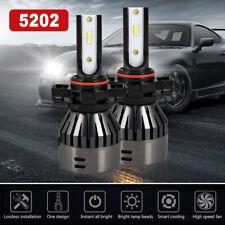 2500W 375000LM Flip Chip 5202 LED Headlight Kit Fog Light Bulbs 6000K High Power