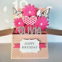 Handmade Name Personalised Valentine Card, Love card, birthday card girlfriend