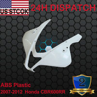 ABS Unpainted Front Upper Head Cowl Nose Fairing For 2007-2012 Honda CBR600RR
