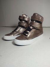 Supra Society II Hi SW34182 Rose Gold-White Leather Skate Shoe