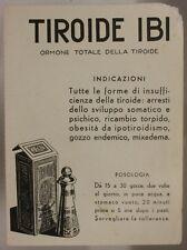 CARTA ASSORBENTE D' EPOCA CON PUBBLICITA' FARMACEUTICA TIROIDE IBI  #193