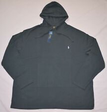 New Medium Polo Ralph Lauren Men hooded T-shirt hoodie Tee gray black cotton top