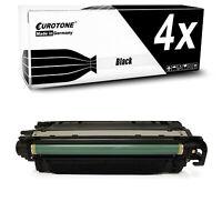 4x Eurotone Toner BLACK für HP Color LaserJet Enterprise CM-4540