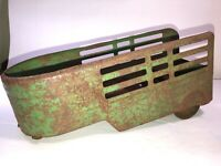 Vintage Horse Trailer Pressed Steel Antique Truck Rusty See pics!!!