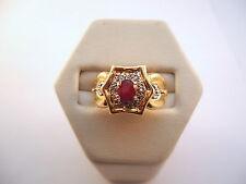 JOLIE BAGUE EN OR 18K ORNÉE RUBIS ET DIAMANTS or 18 carats