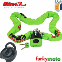 SOLD SECURE MOTORBIKE GOLD APPROVED 1.8M CHAIN LOCK & FLIP GROUND ANCHOR PACK