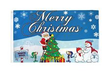 3x5 Merry Christmas at the North Pole Polyester Flag Xmas Holiday Banner Pennant