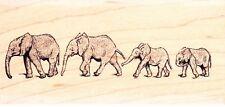 Sello de goma montado Elefantes-Madera-Beryl Peters/Personal Impressions
