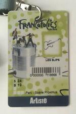 Backstage pass ARTISTE - FRANCOFOLIES SPA 2007