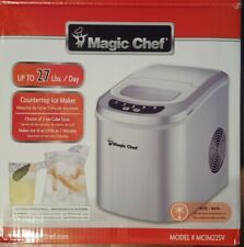 Magic Chef 27 lb. Portable Countertop Ice Maker in Silver - Tested Works Great