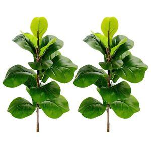 KüNstliche Pflanzen Geigen Blatt Feige Faux Ficus Lyrata Baum GefäLschte Gr D1P7