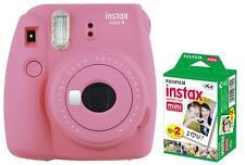 Fuji Instax Mini 9 Flamingo Rosa / Pink inkl.Instax Film 20 Aufnahmen Sofortbild