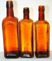 BROWN IRON BITTERS ELECTRIC BITTERS PAINE'S CELERY COMPOUND BOTTLE LOT OF 3