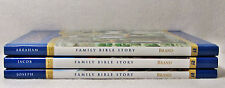 NEW Set of 3 Family Bible Story Review and Herald Ruth Brand Abraham Jacob Joe