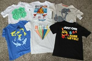 Gymboree Crazy 8 Children's Place Small 5/6 Boys Tee Lot Pac Man Some NWT