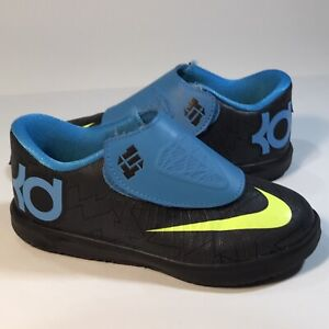Nike KD VI 6 Blue/Black/Volt Toddler Lifestyle Sneaker Size 9C (599479-006)