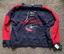 COLUMBUS BLUE JACKETS ladies girls womens TIE front jersey shirt top NEW large