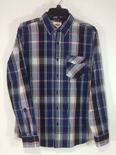 NWT LEVI'S MEN'S PLAID WESTERN REGULAR FIT BUTTON UP SMALL BLUE RED BLACK SHIRT