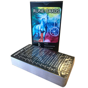 Rune Cards Official Full Set Divination Cards and Training Cards Gift Idea NEW