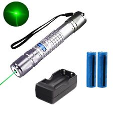 Powerful Visible Beam 20Miles 5mw 532nm Green Laser Pointer Pen+Battery+Charger