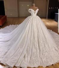 Bridal Ball Gowns Princess Wedding Dresses Off Shoulder Appliques Lace Up Back