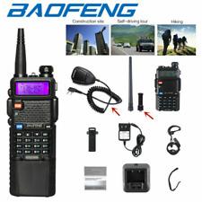 Baofeng UV-5R Walkie Talkies Dual Band VHF UHF Two-way Radio Hand Mic+Long Range
