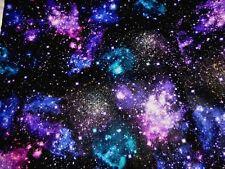 STARS Fabric Fat Quarter Cotton Craft Quilting STARGAZERS Galaxy Night Sky Digi