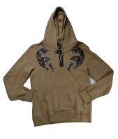 Men hudson pullover Hoodie size LARGE 100%AUTHENTIC 2 cheetahs beige