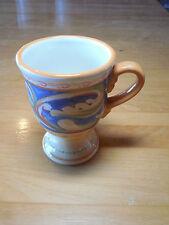 "Pfaltzgraff VILLA DELLA LUNA Set of 6 Pedestal Mugs 5"" pics are light Gold Blue"