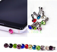 Diamond 3.5MM Anti Dust Plug Cap Stopper Cover FOR Apple iphone ipod itouch new