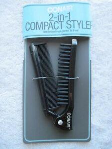 Conair Compact Styler Folding Pocket Travel Size Purse Hair Brush Comb On the Go