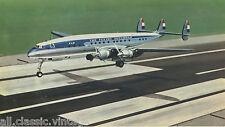 Large Postcard Aircraft/Aviation KLM Lockheed L-1049 Super Constellation