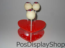 Red Heart Cake Pop Stand - Holds up to 17 Cake Pops / Lollipops