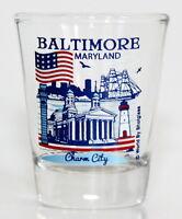 BALTIMORE MARYLAND GREAT AMERICAN CITIES COLLECTION SHOT GLASS SHOTGLASS