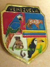BROCHE  VENEZUELA ANIMAUX PERROQUET SINGE LEOPARD