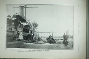1904 PRINT TERRIBLE DISASTER AT SPITHEAD SUNKEN SUBMARINE CRUISER THAMES