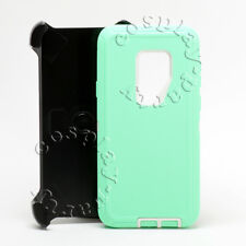 Samsung Galaxy S9+ Plus Defender Rugged Case w  Holster Belt Clip Teal White New