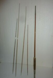 Vintage Wood Fishing Rod Pole Montague Highland For Parts Repair