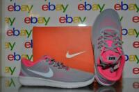 Nike Girls Free RN GS Running Shoes 833993 001 Grey/Pink NIB See Sizes