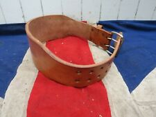 ANTIQUE VINTAGE WEIGHTLIFTERS WRESTLERS LEATHER BELT STRAP SPORTING ANTIQUES
