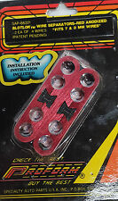 Pair of Red anodized aluminum  4 hole 7 & 8 MM spark plug wire separators loom
